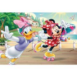 Trefl Minnie és Daisy görkorcsolyázik 160 db-os puzzle tetoválással (90504)